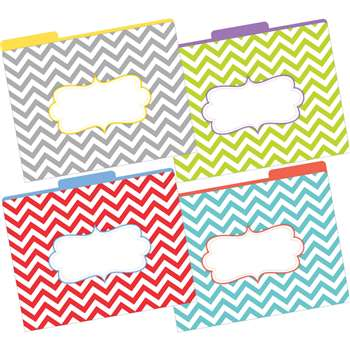 Letter Size File Folders Chevron Beautiful Multi-D, BCPLL1331