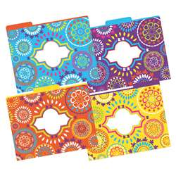 Letter Size File Folders Moroccan Multi-Design Set, BCPLL1335
