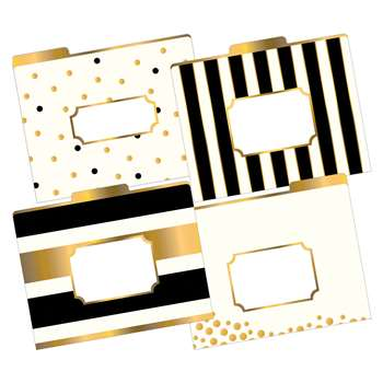 Letter Size File Folders Gold Multi-Design Set, BCPLL1337