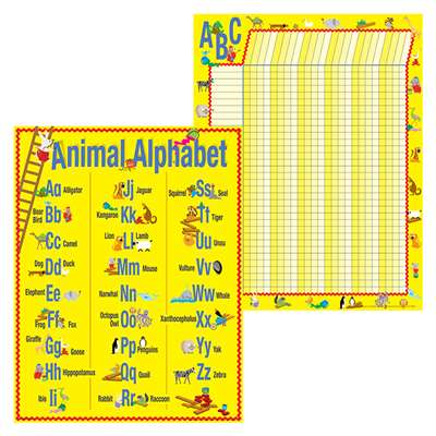 Abc Animals Chart Set, BCPLL524