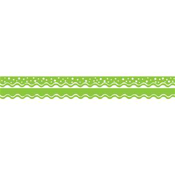 Happy Lime Border Double-Sided Scalloped Edge, BCPLL995