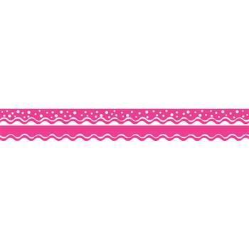 Happy Hot Pink Border Double-Sided Scalloped Edge, BCPLL996