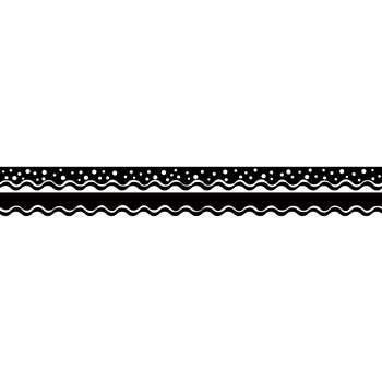 Happy Black Border Double-Sided Scalloped Edge, BCPLL999