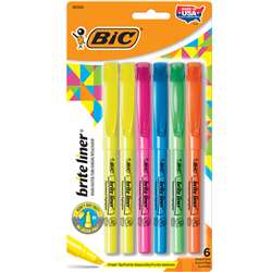 Brite Liner Highlighter 6 Pk By Bic Usa