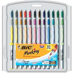 Bic Mark It Permanent Markers 36Pk Ultra Fine Point Asstd Color By Bic Usa