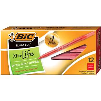 Bic Stick Pens Medium Red By Bic Usa