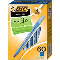 Bic Round Stic Pen Blue By Bic Usa