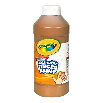 Shop Washable Fingerpaint 16Oz Brown - Bin131607 By Crayola