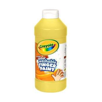 Washable Finger Paint 16Oz Yellow By Crayola