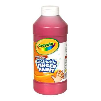 Washable Finger Paint 16Oz Red By Crayola