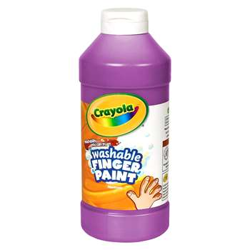 Washable Finger Paint 16 Oz Violet By Crayola