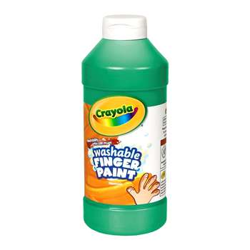 Washable Finger Paint 16Oz Green By Crayola
