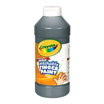 Washable Finger Paint 16 Oz Black By Crayola