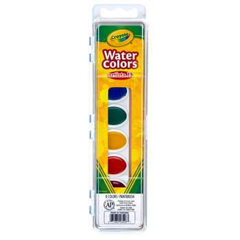 Artista Ii 8 Water Colors W/Brush By Crayola