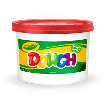 Modeling Dough 3Lb Bucket Red By Crayola