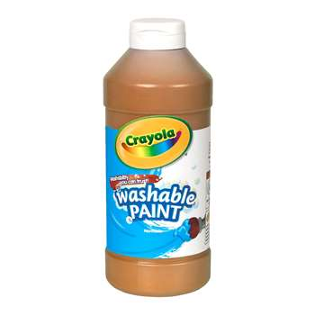 Washable Paint 16 Oz. Brown By Crayola