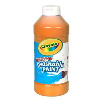 Crayola Washable Paint 16 Oz Orange By Crayola