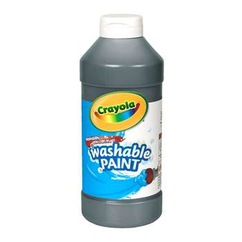 Crayola Washable Paint 16 Oz Black By Crayola