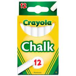 Crayola White Chalk Tuck Box 12 Ct By Crayola