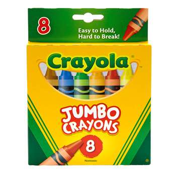 Crayons Jumbo 8Ct Peggable Tuck Box By Crayola