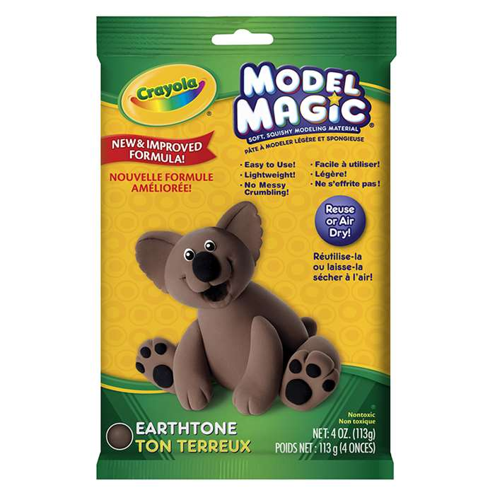 Crayola Model Magic Modeling Compound-Earth Tone By Crayola