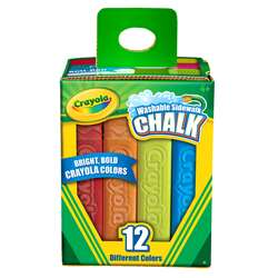 Crayola Washable Sidewalk Chalk 12 Ct By Crayola