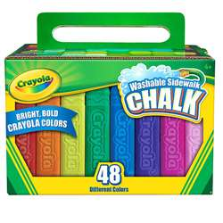Crayola Washable Sidewalk Chalk 48 Ct By Crayola