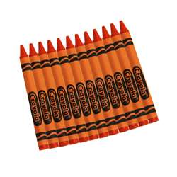 Crayola Bulk Crayons 12 Ct Orange By Crayola