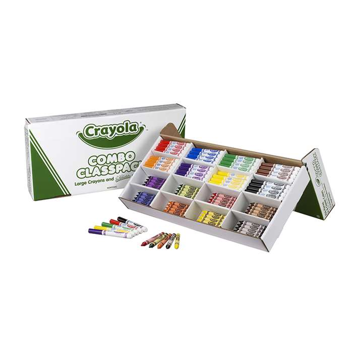 Crayola Large Size Crayons And Markers Classpack By Crayola