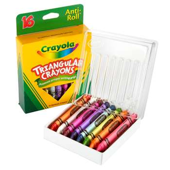 Crayola Triangular Crayons 16 Count By Crayola