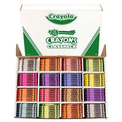 Crayola Classpacks Regular 16 Color 800 Crayons By Crayola