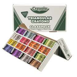 Crayola Crayon Classpack Triangular 16 Colors 256 Crayons By Crayola