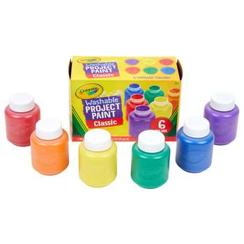 Washable Kids Paint 6 Jar Set By Crayola