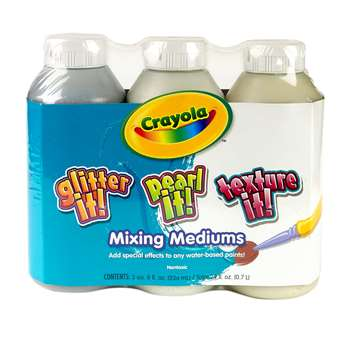Crayola 3 Ct 8 Oz Tempera Mixing Medium Assortment By Crayola