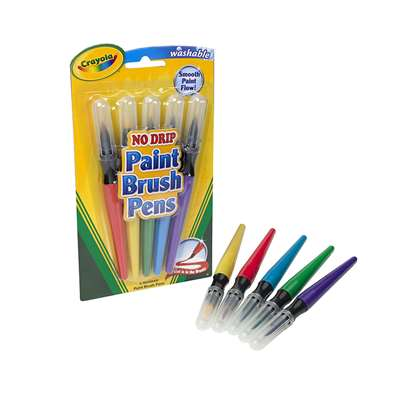 5 Count Paint Brush Pens By Crayola
