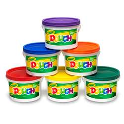 Crayola Dough Set Of 6 Tubs Red Orange Green Yellow Purple Blue By Crayola
