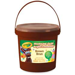 1lb Bucket Modeling Clay Brown, BIN571307