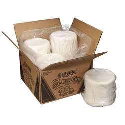 Crayola Air Dry Clay 25 Pound Pk White By Crayola