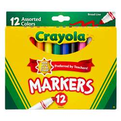 Crayola Markers 12Ct Asst Colors Conical Tip By Crayola