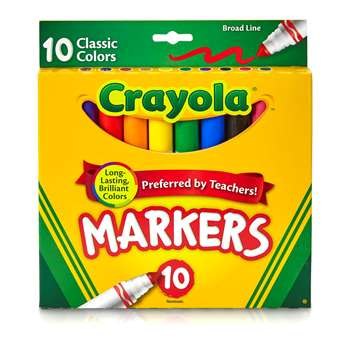 Crayola Taklon Watercolor 10Ct Brush Classic Broad Line By Crayola