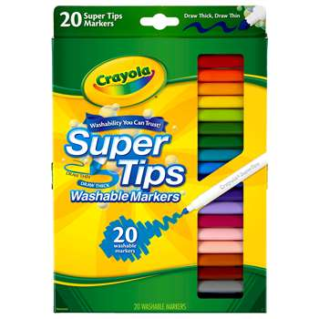 Washable Markers 20Ct Super Tips W/Silly Scents By Crayola