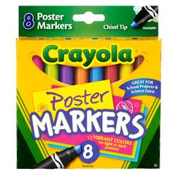 Poster Markers 8Ct By Crayola