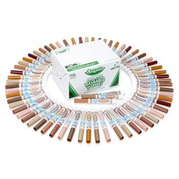 Crayola Multicultural Washable Markers 80 Ct 10 Each Of 8 Colors By Crayola
