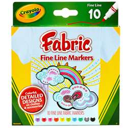 Crayola Fine Line Fabric Markers 10 Colors By Crayola
