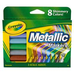 Shop Crayola Metallic Markers 8 Colors - Bin588628 By Crayola