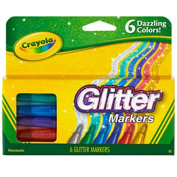 Shop Crayola Glitter Markers 6 Colors - Bin588629 By Crayola