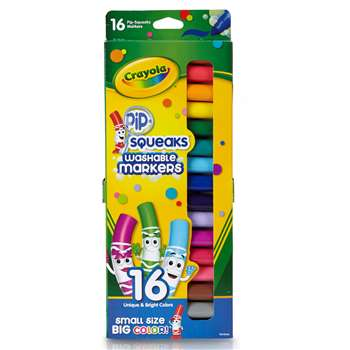 Pip-Squeaks Markers 16 Ct Short Washable In Peggable Pouch By Crayola