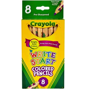 Crayola Write Start 8 Ct Colored Pencils By Crayola
