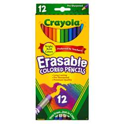 12 Ct. Erasable Colored Pencils By Crayola