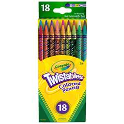 Crayola Twistables 18 Colors Colored Pencils By Crayola